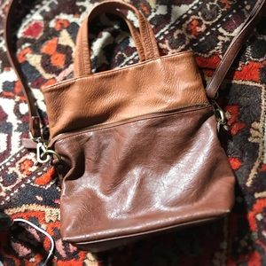 Two in one leather free people bag